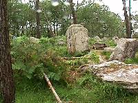Stone Circle at East end of Caesar's Chair alignments