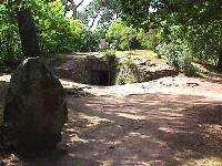 Kercado tumulus with standing stone on top